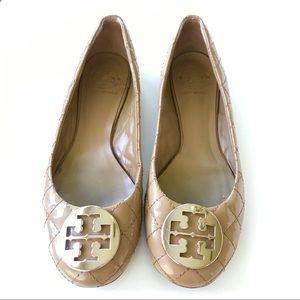 TORY BURCH Patent-Leather Flats EUC!